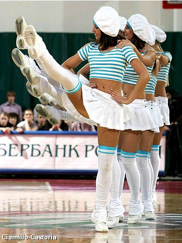 Cheerleaders at the EuroLeague Women Final